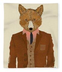 Mr Fox Fleece Blanket