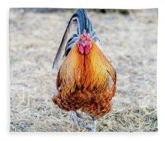 Mr. Rooster Fleece Blanket
