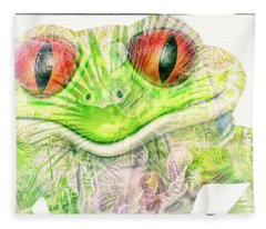 Mr Ribbit Fleece Blanket