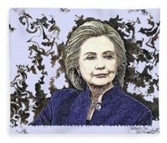 Mrs Hillary Clinton Fleece Blanket