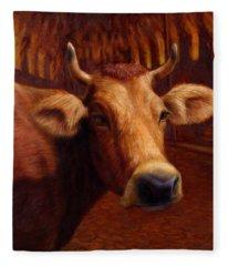 Mrs. O'leary's Cow Fleece Blanket
