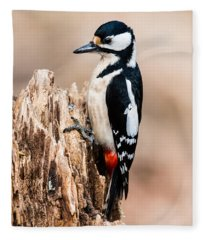 Mrs Woodpecker Fleece Blanket