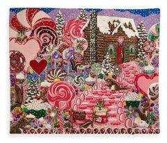 Ms. Elizabeth Peppermint World Fleece Blanket