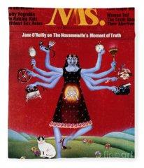 Ms. Magazine, 1972 Fleece Blanket