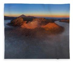 Mt Bromo Sunrise Fleece Blanket