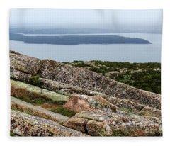 Mt. Destert Island View Fleece Blanket