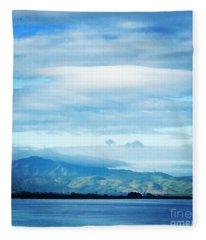 Mt Diablo California Fleece Blanket