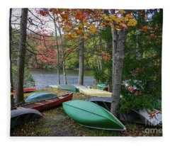 Mt. Gretna Canoes Fleece Blanket
