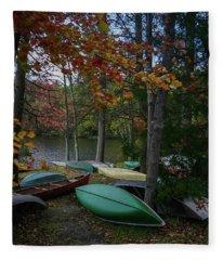 Mt. Gretna Canoes In Fall Fleece Blanket