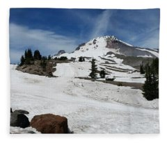 Mt. Hood In June Fleece Blanket