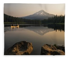 Mt Hood Sunrise  Fleece Blanket