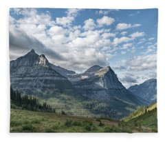 Mt. Oberlin From Logan Pass Fleece Blanket