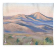 Mt. Pisgah Morning Over Asheville Fleece Blanket