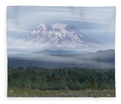 Mt. Rainier Fleece Blanket