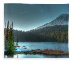 Mt. Rainier Sunrise Fleece Blanket