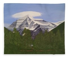 Mt. Robson, Bc Fleece Blanket