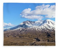 Mt Saint Helens Fleece Blanket