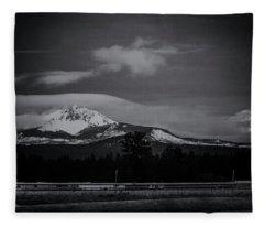Mt. Washington Moonset Fleece Blanket