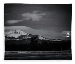 Mt. Washington Moonset Fleece Blanket