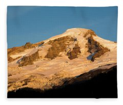Mt.baker At Sunset  Fleece Blanket