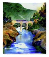 Mtn Quarries Rr Bridge Fleece Blanket
