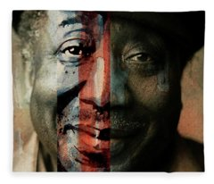 Muddy Waters - Mannish Boy  Fleece Blanket