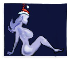 Mudflap Christmas Babe Fleece Blanket