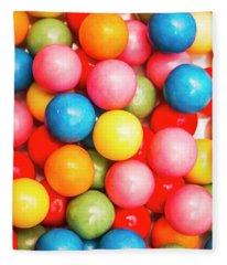 Multi Colored Gumballs. Sweets Background Fleece Blanket