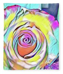 Multi-colored Rose Fleece Blanket