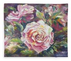 Multi-hue And Petal Rose. Fleece Blanket