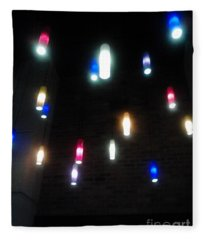 Multi Colored Lights Fleece Blanket