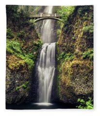 Multnomah Falls Lower Fleece Blanket