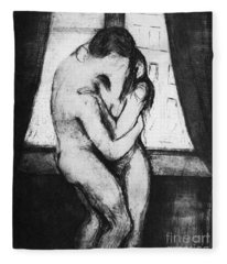 Munch The Kiss, 1895 - To License For Professional Use Visit Granger.com Fleece Blanket
