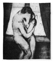 Munch The Kiss, 1895 Fleece Blanket