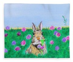 Munching Bunny Fleece Blanket