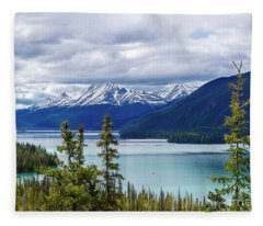 Muncho Lake Fleece Blanket