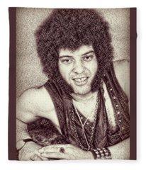 Mungo Jerry Portrait - Drawing Fleece Blanket