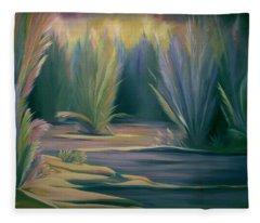 Mural Field Of Feathers Fleece Blanket