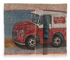 Mural On Historic Route 66 Fleece Blanket