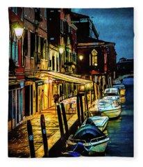 Murano At Night. Fleece Blanket