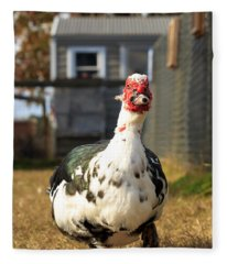 Muscovy Duck Fleece Blanket