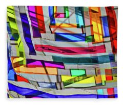 Museum Atrium Art Abstract Fleece Blanket