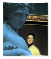 Museum Critic Fleece Blanket