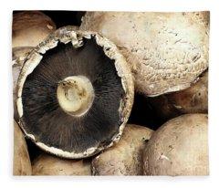 Mushroom Caps Fleece Blanket