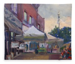 Music And Arts Festival At Bistro And Bar Fleece Blanket