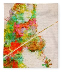 Music In My Soul Fleece Blanket