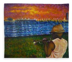 Music Man In The Lbc Fleece Blanket