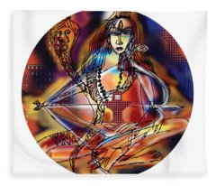 Music Shiva Fleece Blanket