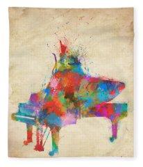 Music Strikes Fire From The Heart Fleece Blanket