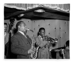 Music's Golden Era - Charlie Parker And Miles Davis 1947 Fleece Blanket